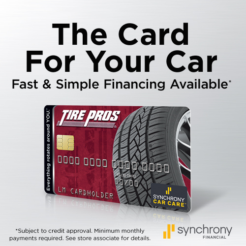 Tire Pros Financing Available at Standridge Tire Pros in Pauls Valley, OK