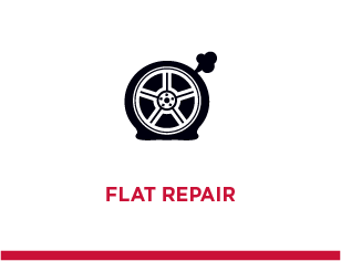 Schedule a Flat Repair Today!